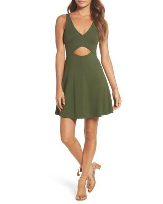 Ali & Jay | Green Alfresco @ Geoffrey's Cutout Minidress | Lyst
