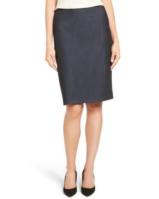 Anne Klein   Multicolor Stretch Woven Suit Skirt   Lyst