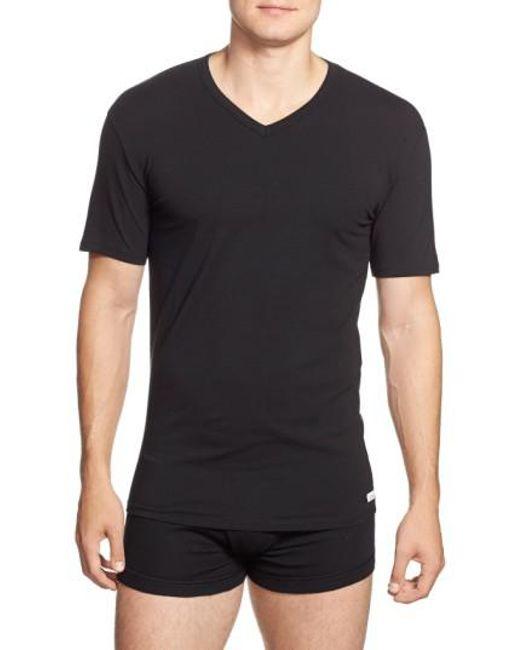 Calvin Klein - 2-pack Stretch Cotton T-shirt, Black for Men - Lyst