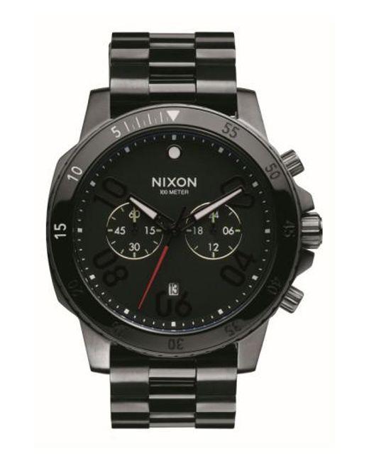 Nixon - Black 'ranger' Chronograph Bracelet Watch for Men - Lyst
