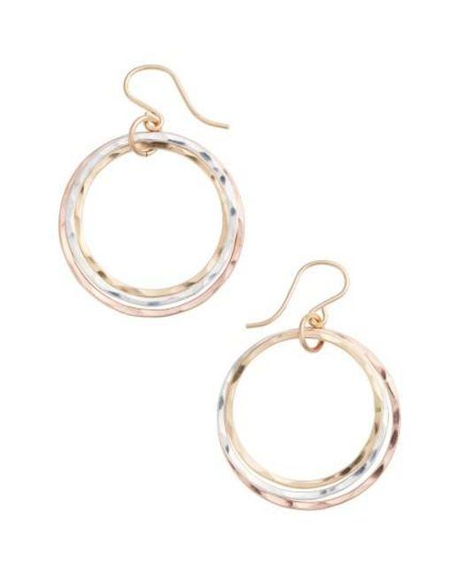 Nashelle | Metallic Wellness Small Hoop Earrings | Lyst