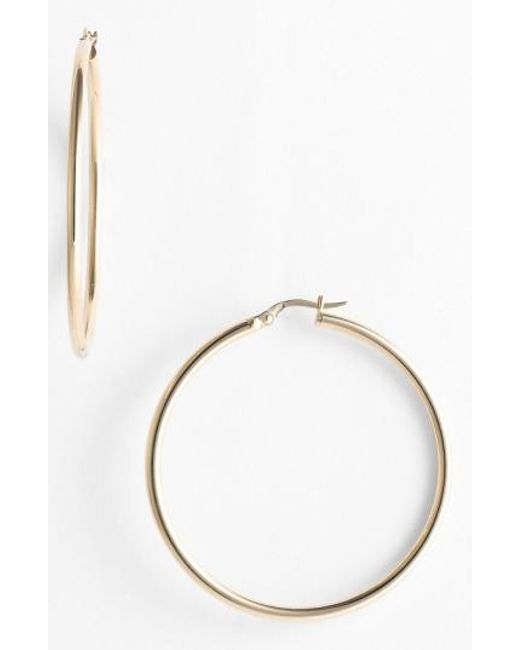 Roberto Coin | Metallic 45mm Gold Hoop Earrings | Lyst