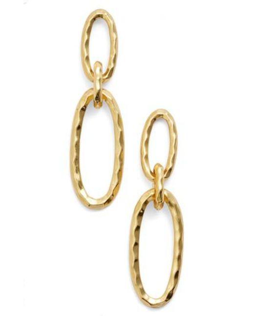 Karine Sultan | Metallic Double Oval Link Earrings | Lyst