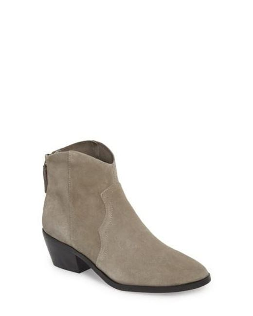 TOPSHOP - Gray Betty Western Ankle Boots - Lyst