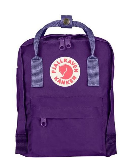 Fjallraven - Green 'mini Kanken' Water Resistant Backpack - Purple - Lyst