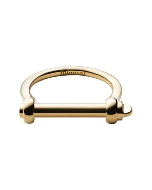 Miansai - Metallic Thin Screw Cuff Ring - Lyst