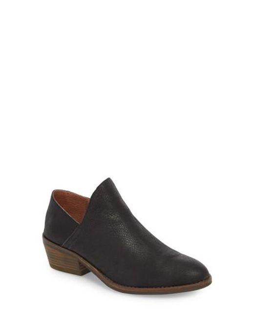 Lucky Brand Fausst Leather Block Heel Shooties Q5AfomqD