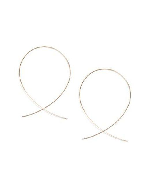 Lana Jewelry - Metallic 'large Upside Down' Hoop Earrings - Lyst