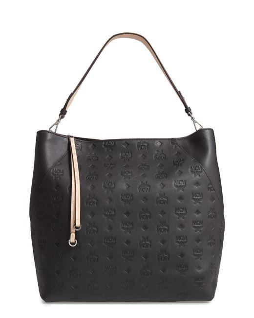 c783ebd194 Lyst - MCM Large Klara Monogram Leather Hobo in Black