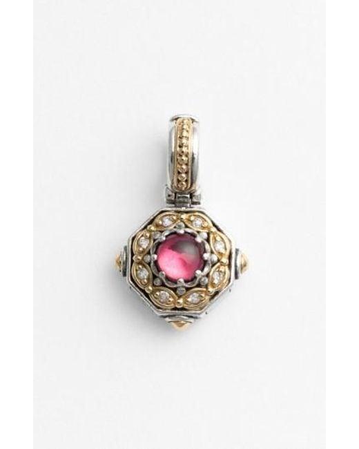 Konstantino   Pink 'hermione' Stone & Diamond Pendant   Lyst