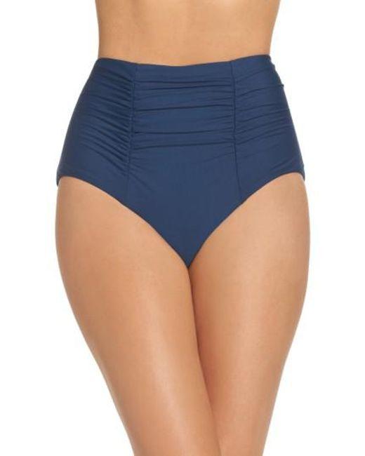 Becca | Blue Color Code High Waist Bikini Bottoms | Lyst