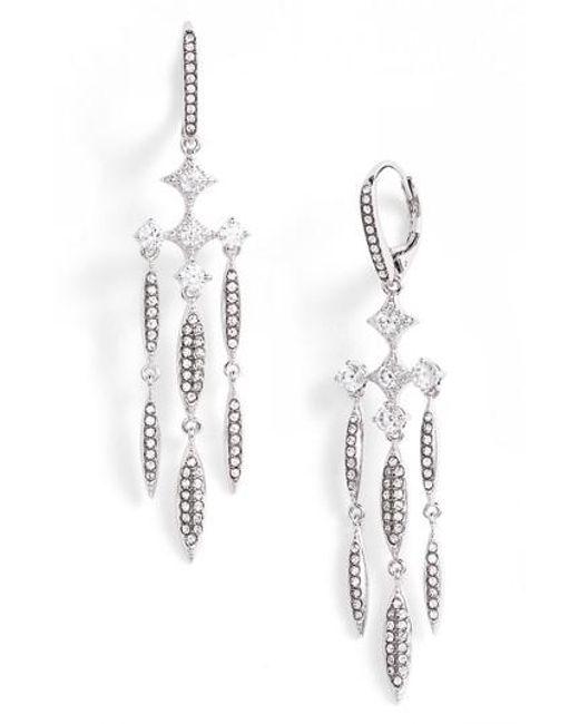 Nadri   Metallic Cardamom Chandelier Earrings   Lyst