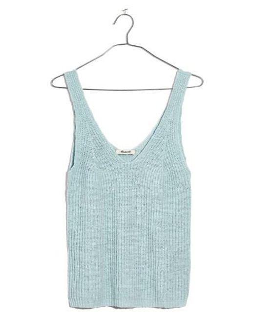 Madewell - Blue Monterey Sweater Tank - Lyst