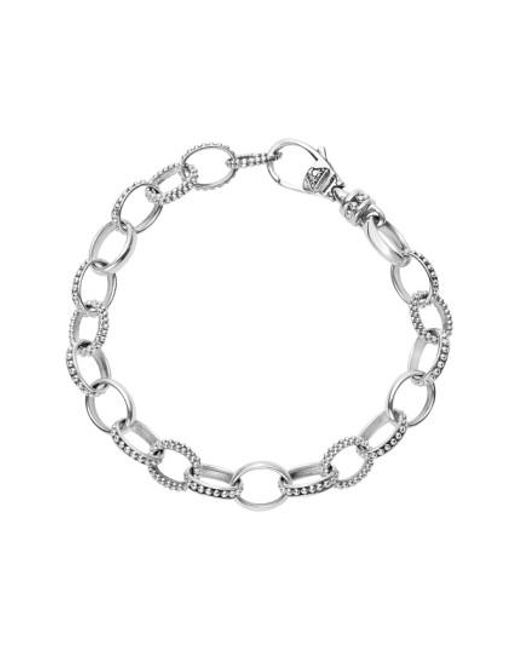 Lagos - Metallic 'link' Caviar Chain Bracelet - Lyst