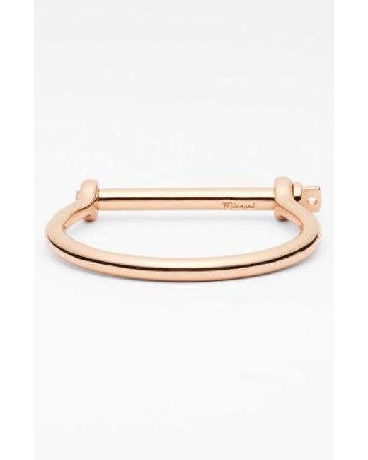 Miansai | Metallic Rose Plated Screw Cuff Bracelet for Men | Lyst