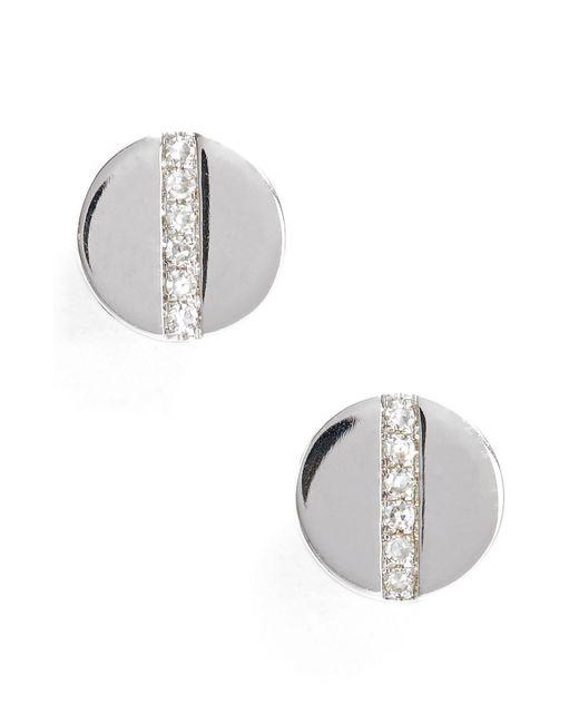 EF Collection - Metallic Screw Diamond Stud Earrings - Lyst