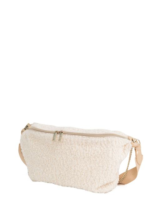 BEIS Natural The Fanny Pack Faux Shearling Belt Bag