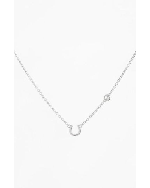 Shy By Sydney Evan | Metallic Shy By Sydney Evan Horseshoe Necklace | Lyst