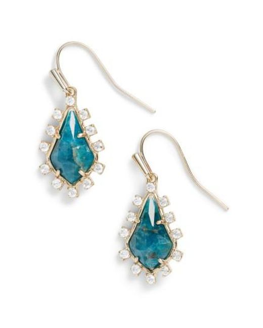 Kendra Scott | Blue Juniper Drop Earrings | Lyst