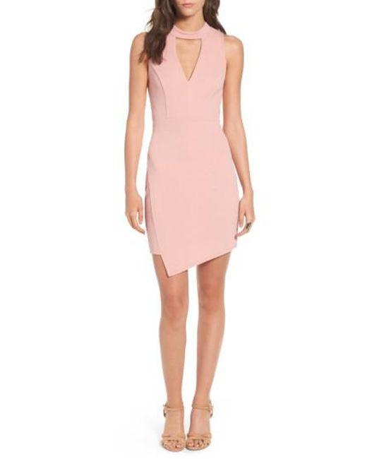 Soprano | Pink Asymmetrical Body-con Dress | Lyst