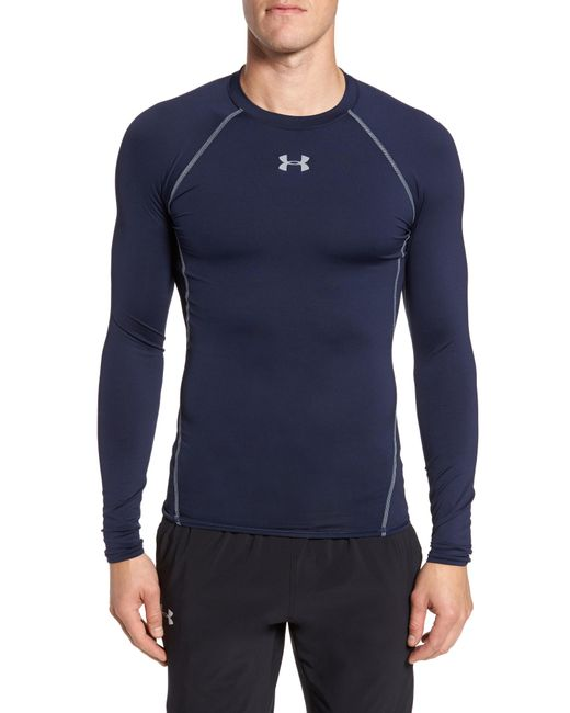 Under Armour - White Heatgear Compression Fit Long Sleeve T-shirt for Men - Lyst
