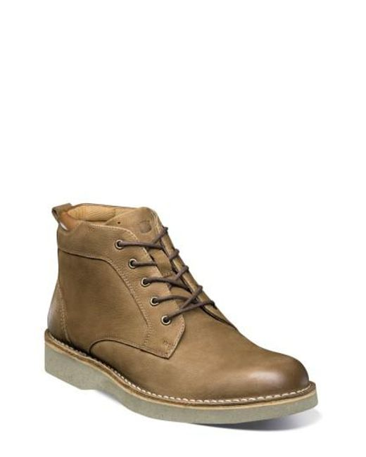 Florsheim | Brown Navigator Plain Toe Boot for Men | Lyst