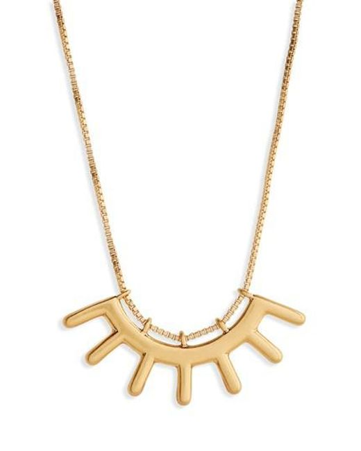Madewell - Metallic Succulent Pendant Necklace - Lyst