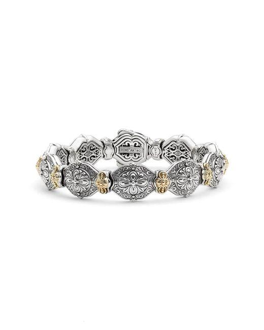 Konstantino - Metallic 'silver & Gold Classics' Link Bracelet - Lyst