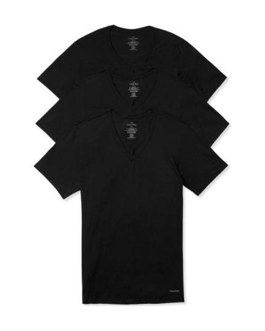 CALVIN KLEIN 205W39NYC - Slim Fit 3-pack Cotton T-shirt, Black for Men - Lyst
