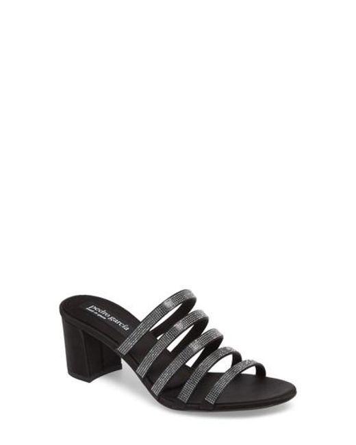 Pedro Garcia - Black Xaki Crystal Embellished Sandal - Lyst