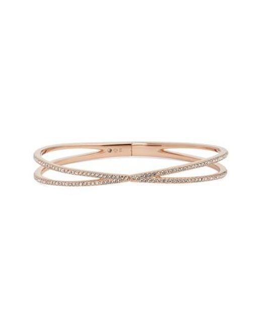 Nadri | Metallic Pave Hinged Crossover Bracelet (nordstrom Exclusive) | Lyst