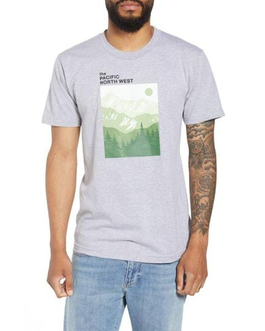 Casual Industrees - Multicolor Pnw Mountains Graphic T-shirt for Men - Lyst