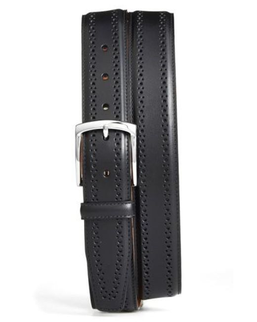 Allen Edmonds | Black Manistee Brogue Leather Belt for Men | Lyst