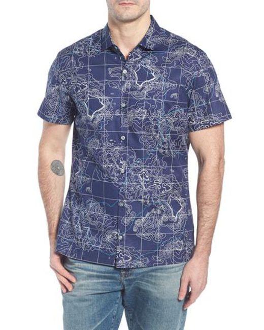 Tori Richard - Blue 21n 158w Trim Fit Camp Shirt for Men - Lyst