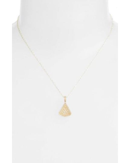 Anna Beck | Metallic Reversible Fan Pendant Necklace | Lyst