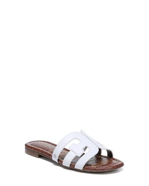 Sam Edelman Women's Bay 2 Leather Embellished Slide Sandals Pi58tlfYJc