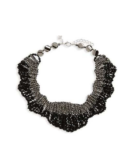 Panacea | Black Beaded Statement Collar Necklace | Lyst