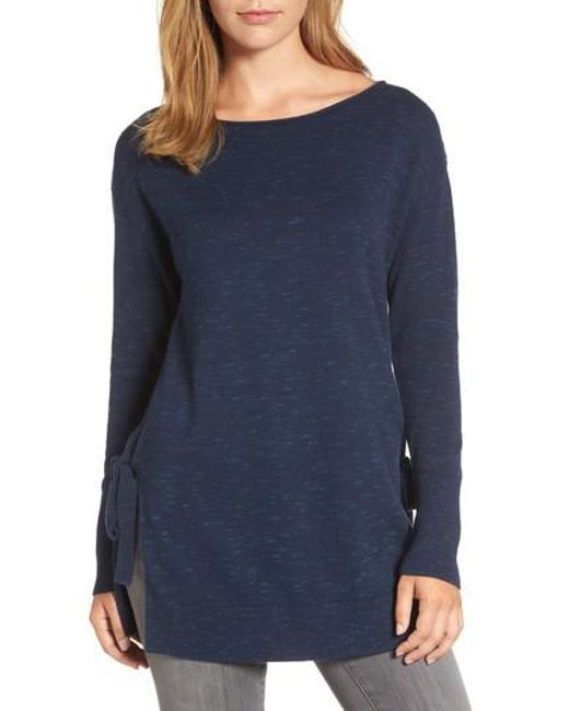 Caslon | Blue Caslon Side Tie Tunic Top | Lyst