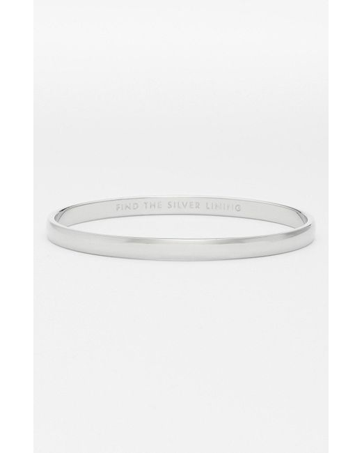 Kate Spade - Metallic 'idiom - Find The Silver Lining' Bangle - Lyst
