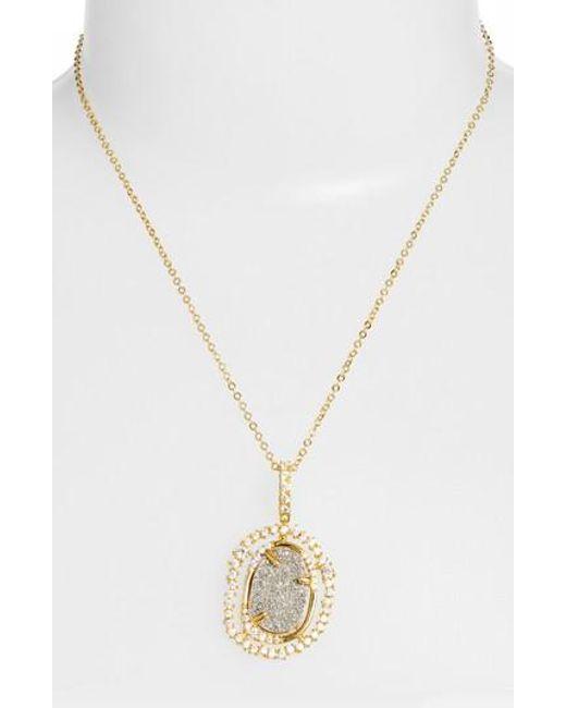 Melinda Maria | Metallic Loriann Pendant Necklace | Lyst