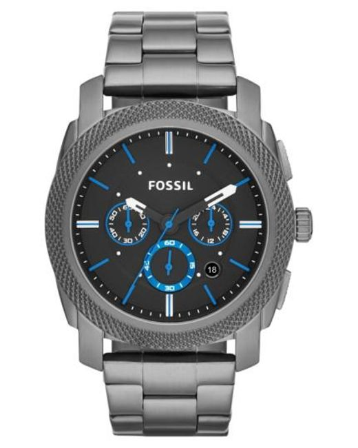 Fossil | Gray 'machine' Chronograph Bracelet Watch for Men | Lyst