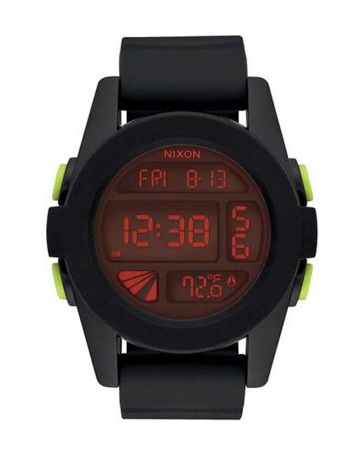 Nixon - Black The Unit Digital Silicone Strap Watch for Men - Lyst