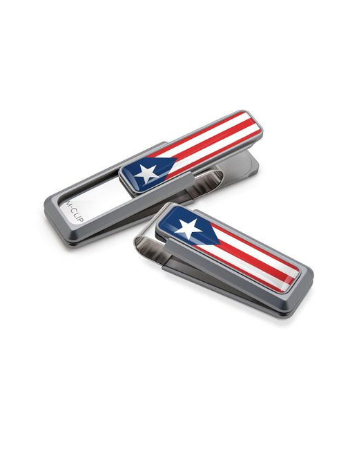 M-clip - Natural M-clip Puerto Rican Flag Money Clip - Metallic for Men - Lyst