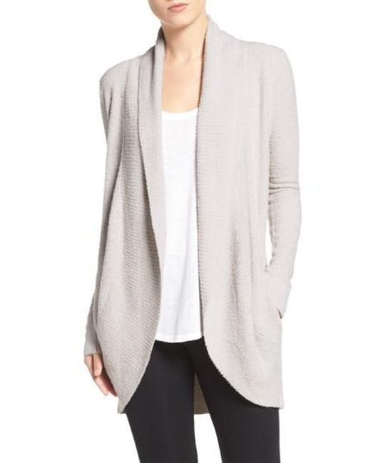 Barefoot Dreams | Metallic Barefoot Dreams Cozychic Lite Circle Cardigan | Lyst