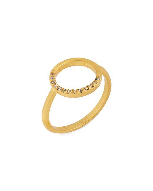 Madewell - Metallic Luster Circle Pavé Ring - Lyst