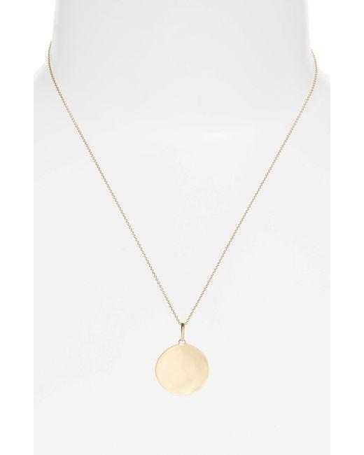 Bony Levy - Metallic Concave Large Pendant Necklace (nordstrom Exclusive) - Lyst