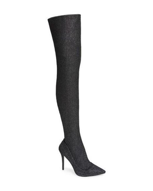 TOPSHOP - Metallic Bellini Stiletto Over The Knee Boot - Lyst