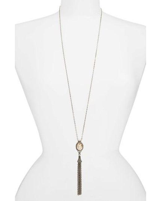 Sorrelli - Metallic Camellia Tassel Pendant Necklace - Lyst