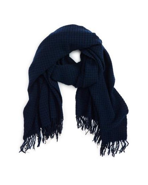 Rag & Bone - Blue Herringbone Wool Scarf - Lyst