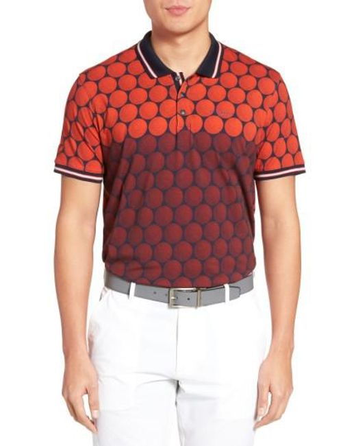Ted Baker | Red Birdy Print Golf Polo for Men | Lyst